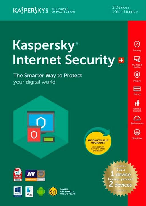 PC/Mac/Android - Internet Security Limited Edition (2 PC) (D/F/I) Fisico (Box) Kaspersky 785300130622 N. figura 1