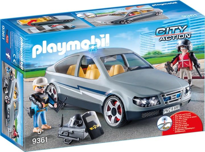 Playmobil Voiture banalisée avec policiers en civil 746092600000 Photo no. 1