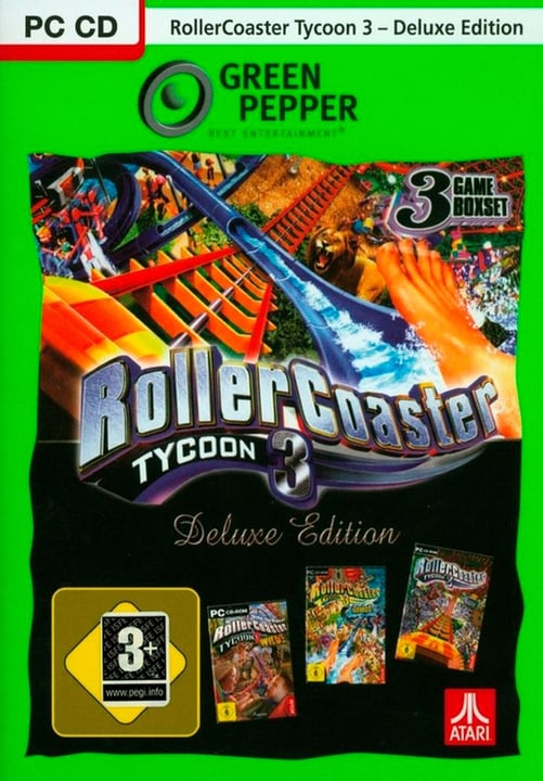 PC - Green Pepper: Rollercoaster Tycoon 3 Deluxe (D) Physisch (Box) 785300135813 Bild Nr. 1