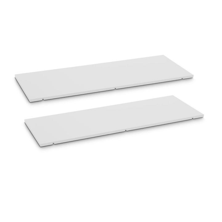 SEVEN Tablar 2er-Set 90cm 362019850001 Grösse B: 90.0 cm x T: 1.4 cm x H: 35.5 cm Farbe Weiss Bild Nr. 1