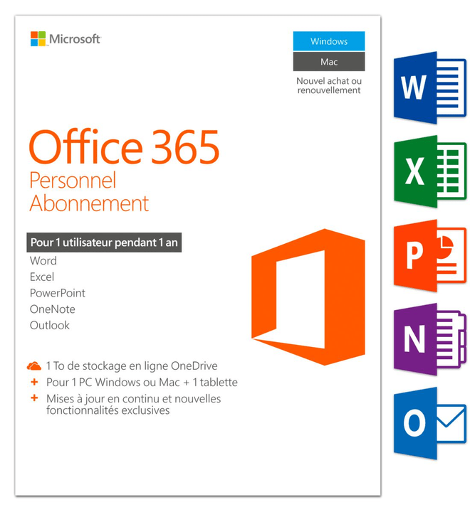 PC/Mac - Office 365 Personnel Physique (Box) Microsoft 785300121047 Photo no. 1