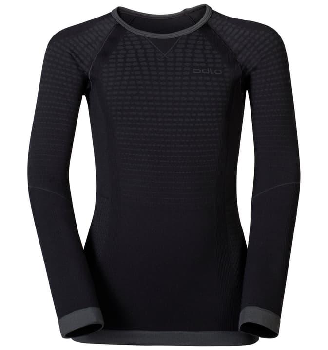 Shirt EVOLUTION WARM KIDS Kinder-Thermoshirt Odlo 462829811820 Farbe schwarz Grösse 116 /128 Bild-Nr. 1