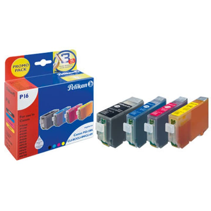 Pixma PGI-5 bk,CLI-8 c, CLI-8 m, CLI-8 y color Pelikan 797529400000 Photo no. 1