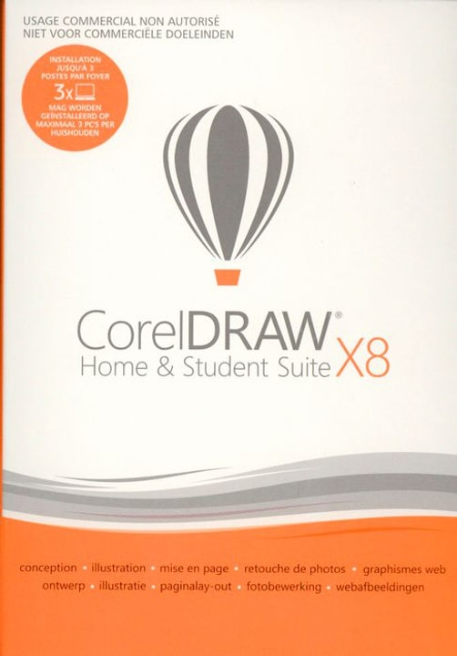 PC - CorelDRAW Home & Student Suite X8 (français) Physique (Box) Corel 785300122225 Photo no. 1