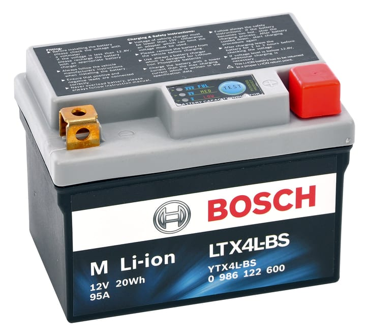 Li-ion LTX4L-BS 20Wh Batterie moto Bosch 620478600000 Photo no. 1