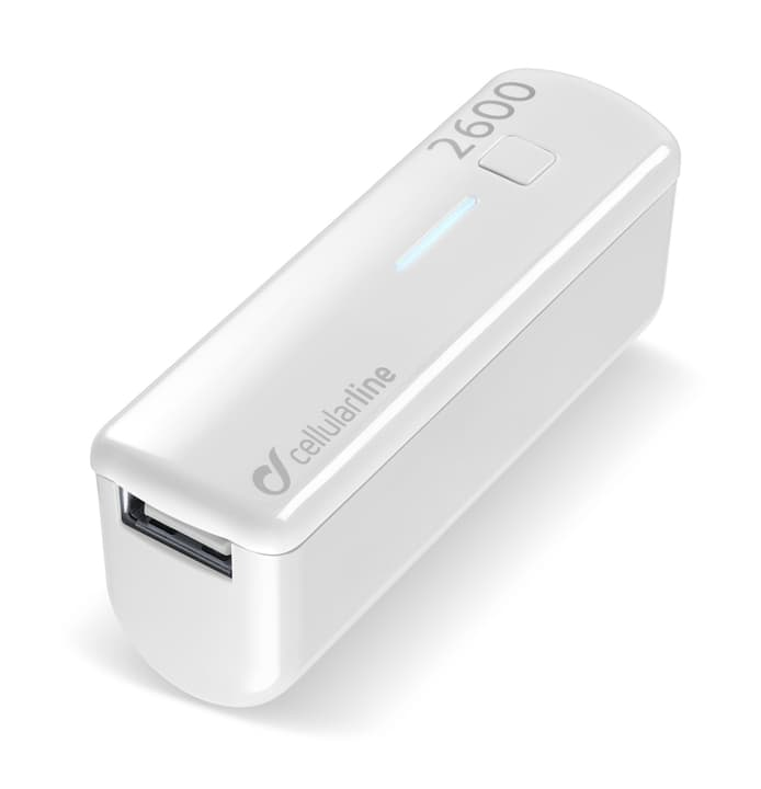 USB Pocket Charger 2'600 mAh weiss Powerbank Cellular Line 621506900000 Bild Nr. 1