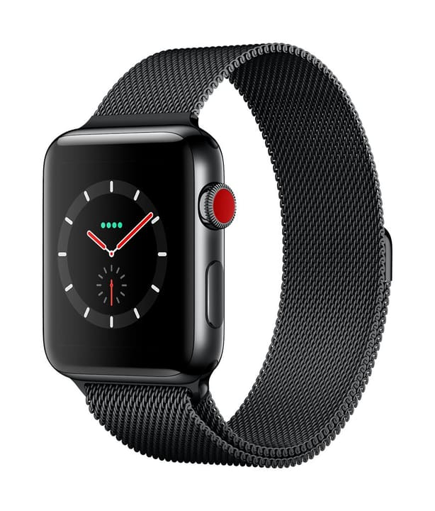 Watch Series 3 GPS/LTE 42mm stainless black/spaceblack milanese Apple 785300129997 Photo no. 1