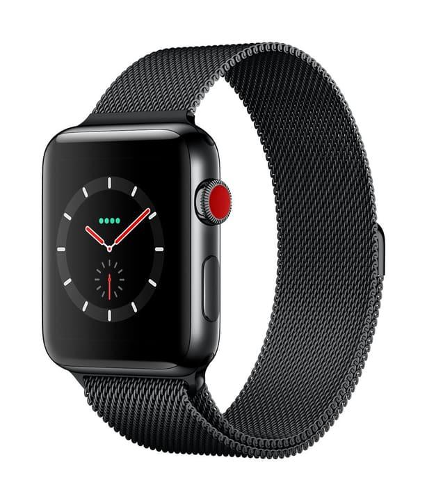 Watch Series 3 GPS/LTE 42mm stainless black/spaceblack milanese Apple 785300129997 Bild Nr. 1