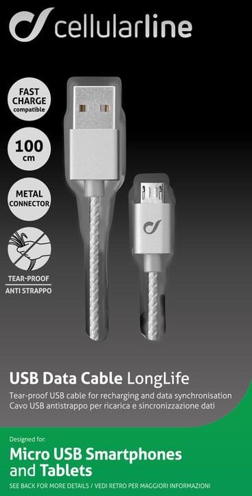Micro USB Data Cable LongLife Cellular Line 621507300000 Bild Nr. 1