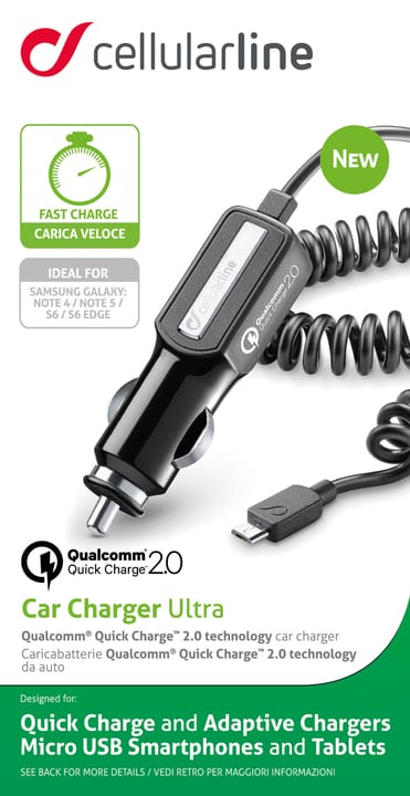 Car Charger Ultra Qualcomm Quick Charge 2.0 Cellular Line 621504600000 Bild Nr. 1