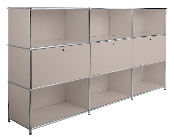 FLEXCUBE Buffet haut 401809800088 Dimensions L: 227.0 cm x P: 40.0 cm x H: 118.0 cm Couleur Gris taupe Photo no. 1