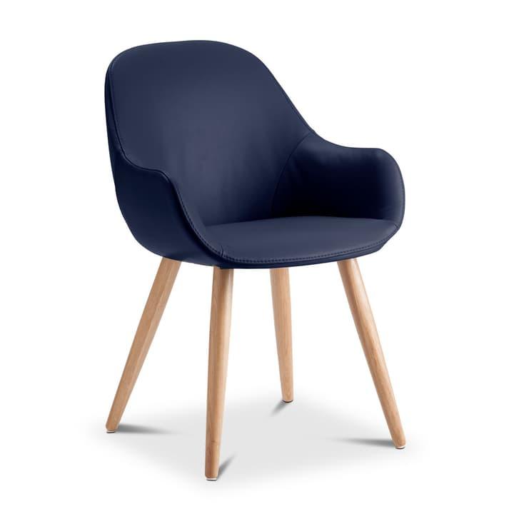 LAYLA Chaise cuir aniline Sauvage 366028730410 Dimensions L: 56.0 cm x P: 60.0 cm x H: 84.0 cm Couleur Bleu foncé Photo no. 1