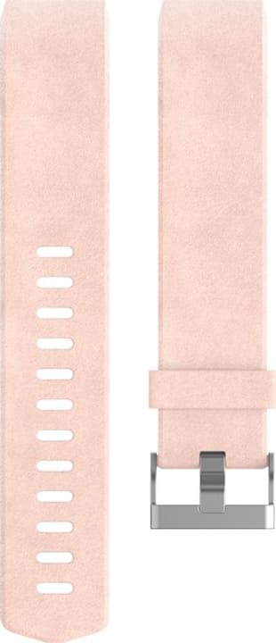 Charge 2 Bracelet en cuir Rose Large Fitbit 785300131181 Photo no. 1