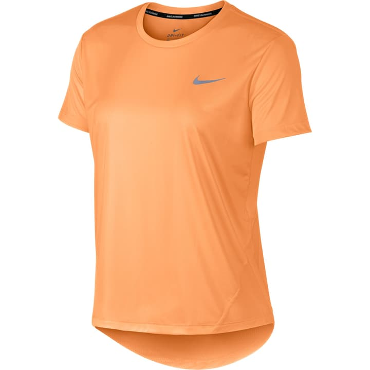 Miler Top SS Shirt pour femme Nike 470176600434 Couleur orange Taille M Photo no. 1