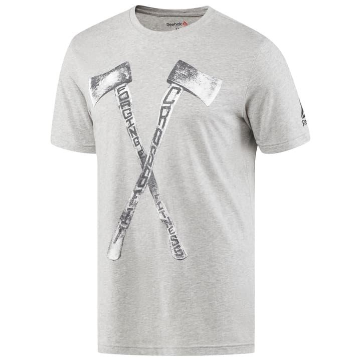 RX AXE TEE Herren-T-Shirt Reebok 460990200380 Farbe grau Grösse S Bild-Nr. 1