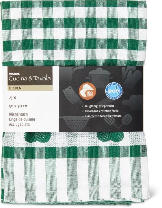 Set di asciugapiatti Cucina & Tavola 700347800063 Colore Verde scuro Dimensioni L: 50.0 cm x A: 70.0 cm N. figura 1