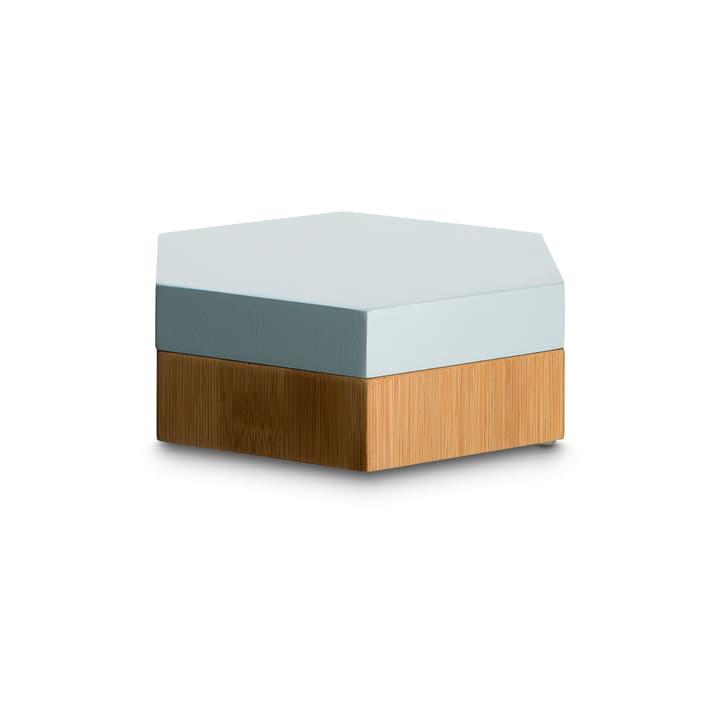 INES Box de bijoux 374113200000 Dimensions L: 15.0 cm x P: 15.0 cm x H: 5.0 cm Couleur Bleu clair Photo no. 1