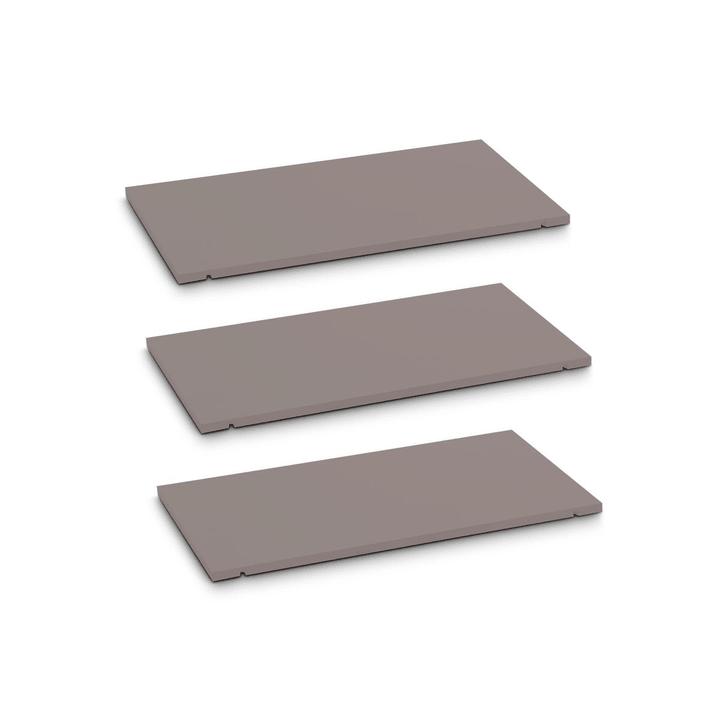 SEVEN Tablar 3er-Set 60cm Edition Interio 362019649602 Grösse B: 60.0 cm x T: 1.4 cm x H: 35.5 cm Farbe Grau Bild Nr. 1