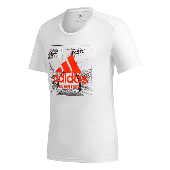 Fast GFX Tee Herren-T-Shirt Adidas 470409800510 Farbe weiss Grösse L Bild-Nr. 1