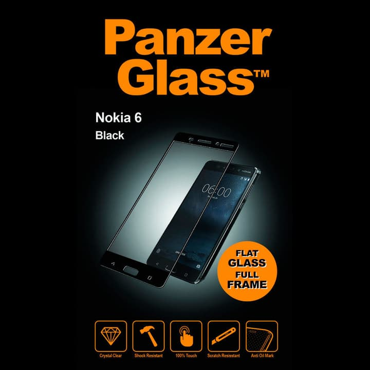 for Nokia 6 black Schutzfolie Panzerglass 798099500000 Bild Nr. 1