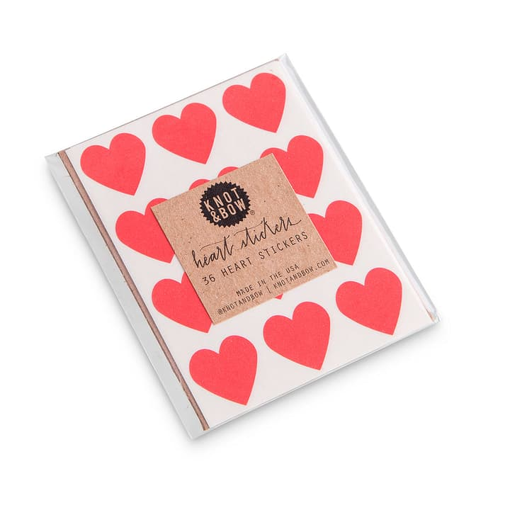 HEARTS sticker 386139400000 Dimensions L: 9.0 cm x P: 7.0 cm x H: 0.1 cm Couleur Rouge Photo no. 1