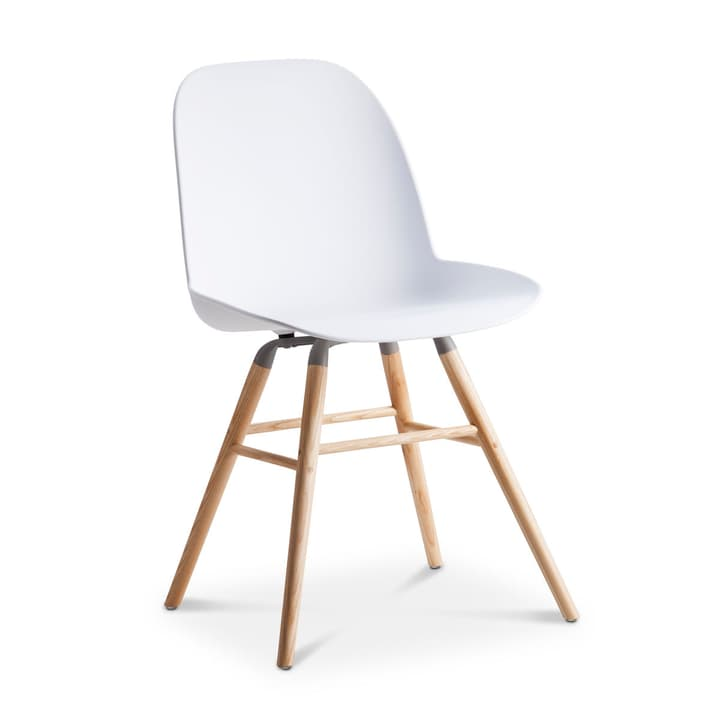 ALBERT chaise blanc Chaise 366027593606 Dimensions L: 55.0 cm x P: 49.0 cm x H: 81.5 cm Couleur Blanc Photo no. 1