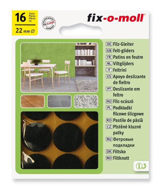 Piedini in feltro 3 mm / Ø 22 mm 16 x Sottopiedini Fix-O-Moll 607067400000 N. figura 1