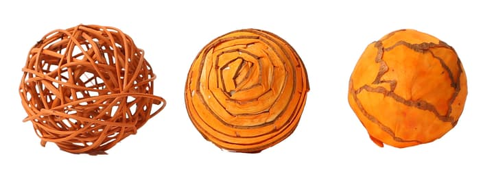 Sfere Decorative aranchione, 6cm, 3pcs. Do it + Garden 656546700002 Colore Arancione Taglio ø: 60.0 mm N. figura 1