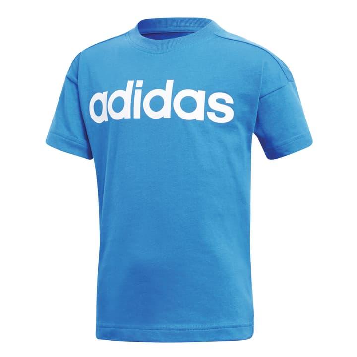 Little Kids Linear Tee Shirt pour garçon Adidas 472337410440 Couleur bleu Taille 104 Photo no. 1
