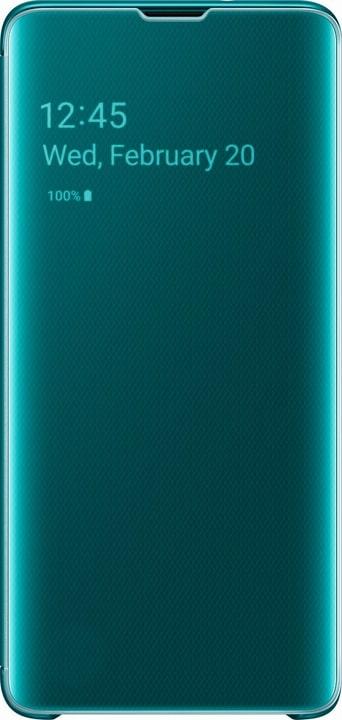 Clear view cover Green Custodia Samsung 785300142465 N. figura 1