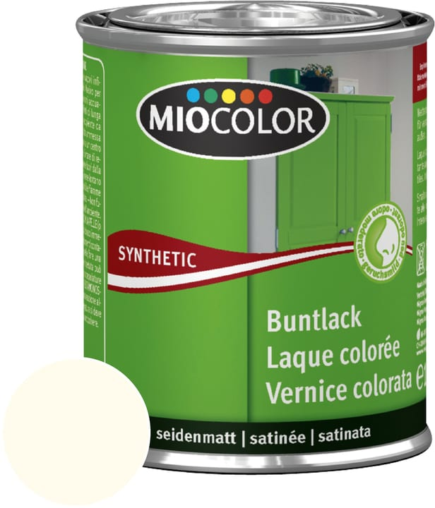 Synthetic Vernice colorata opaca Avorio chiaro 375 ml Miocolor 661437100000 Contenuto 375.0 ml Colore Avorio chiaro N. figura 1