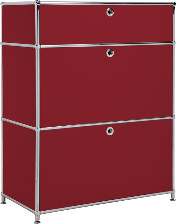 FLEXCUBE Buffet 401814710230 Dimensions L: 77.5 cm x P: 40.0 cm x H: 100.0 cm Couleur Rouge Photo no. 1