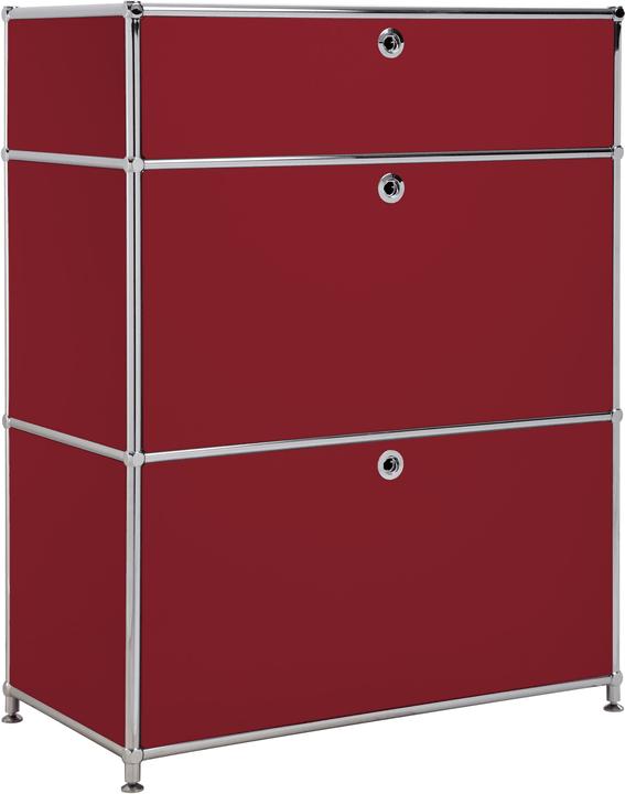 FLEXCUBE Sideboard 401814710230 Grösse B: 77.5 cm x T: 40.0 cm x H: 100.0 cm Farbe Rot Bild Nr. 1