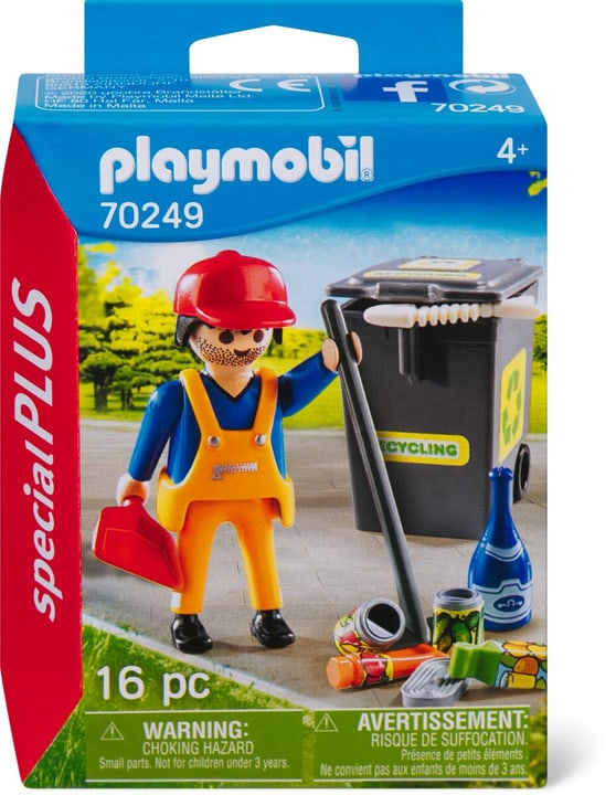 PLAYMOBIL 70249 Operatore ecologico 748029200000 N. figura 1