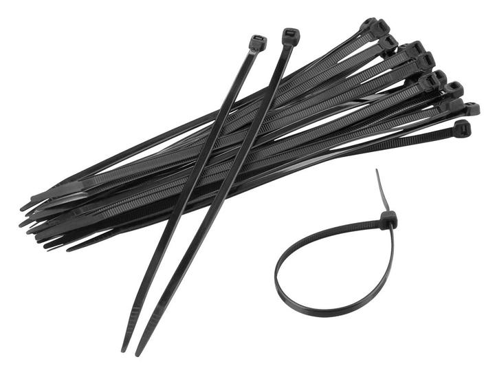 Serre-câbles, noir 100 pieces Kabelbinder Durabase 791037500000 Photo no. 1