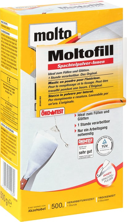 Mastic en poudre intérieur Molto 676065000000 Couleur Blanc Photo no. 1