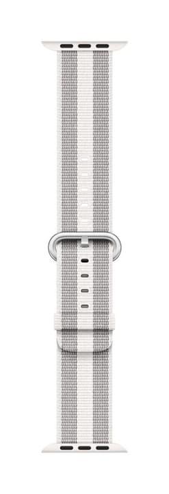 38mm White Stripe Woven Nylon Cinturini Apple 785300130649 N. figura 1