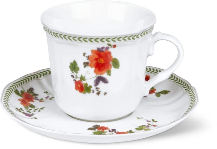 LANDHAUS Kaffeetasse mit Unterteller Cucina & Tavola 700160300002 Farbe Multicolor Grösse B: 15.5 cm x H: 10.0 cm Bild Nr. 1