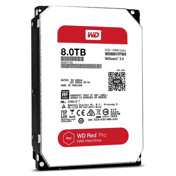 "disque dur interne Red PRO 8TB NAS SATA 3.5"" HDD NAS Western Digital 785300124406 Photo no. 1"