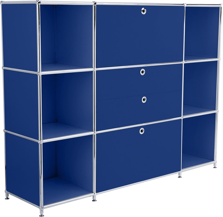 FLEXCUBE Highboard 401809400040 Grösse B: 152.0 cm x T: 40.0 cm x H: 118.0 cm Farbe Blau Bild Nr. 1