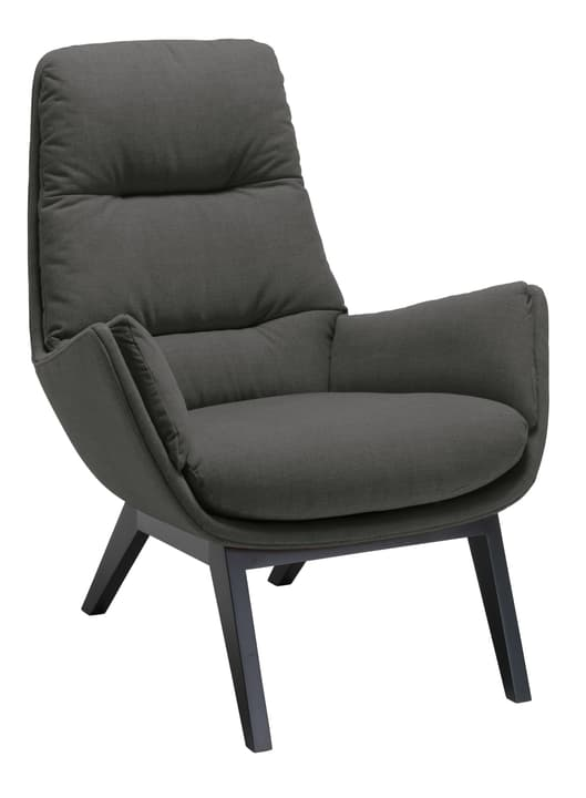 ANDRES Fauteuil 402441207084 Dimensions L: 83.0 cm x P: 87.0 cm x H: 96.0 cm Couleur Anthracite Photo no. 1