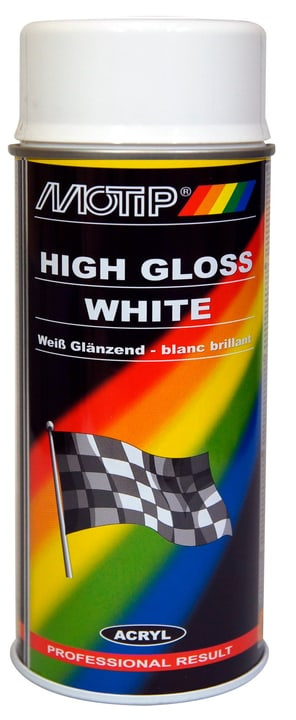 Peinture rallye blanc high gloss 150 ml Peinture aérosol MOTIP 620837900000 Photo no. 1