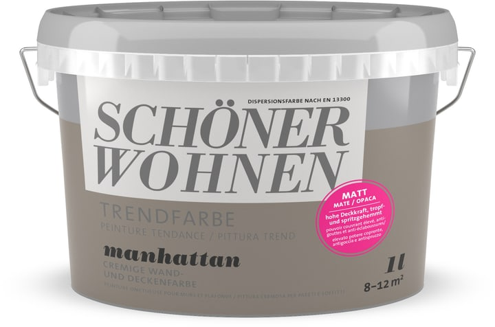 Couleur tendance mate Manhatten 1 l Schöner Wohnen 660941100000 Couleur Manhatten Contenu 1.0 l Photo no. 1