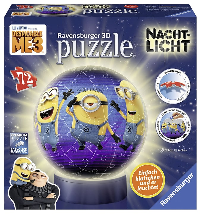 Minions 3D Puzzle Illuminee 72p 747444300000 Photo no. 1