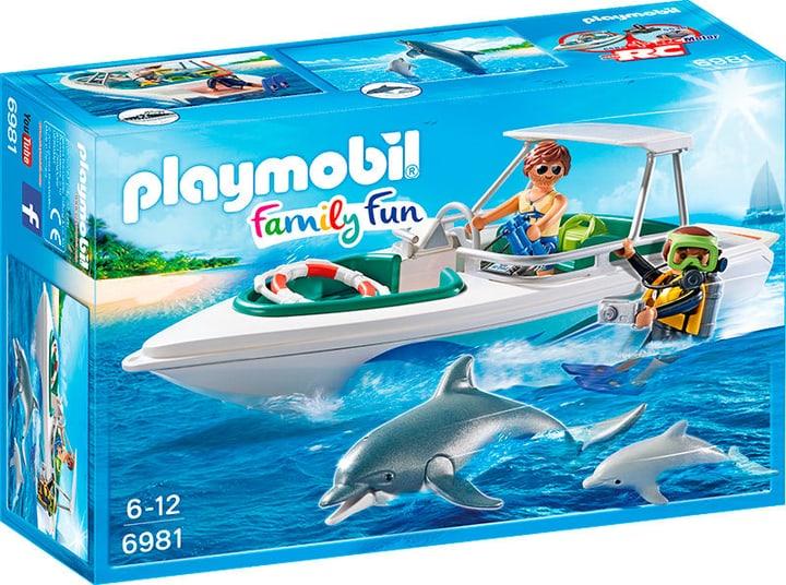 Playmobil Sub con motoscafo e delfini 6981 746071000000 N. figura 1