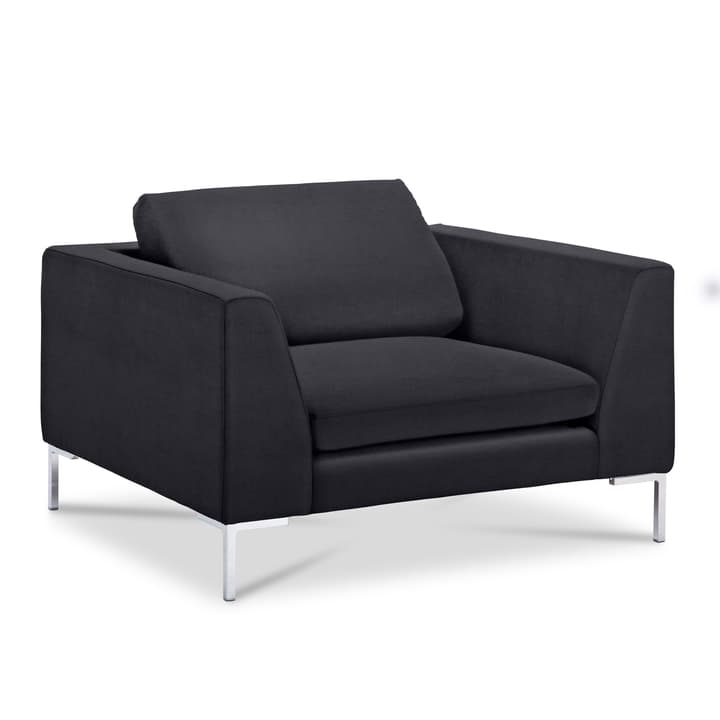 NEWTON Matrix Fauteuil 360052418501 Dimensions L: 110.0 cm x P: 102.0 cm x H: 80.0 cm Couleur Noir Photo no. 1
