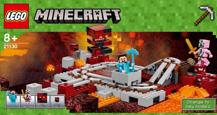 LEGO Minecraft Die Nether-Eisenbahn 21130 748839400000 Bild Nr. 1