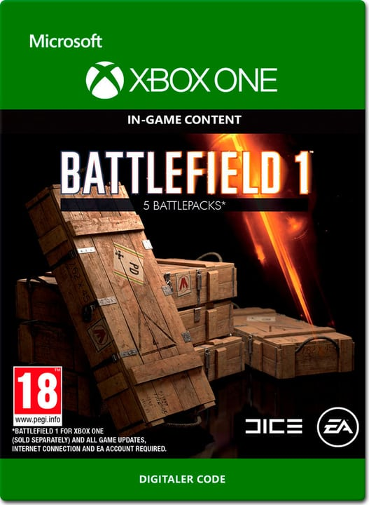 Xbox One - Battlefield 1: Battlepacks x5 Download (ESD) 785300137306 N. figura 1