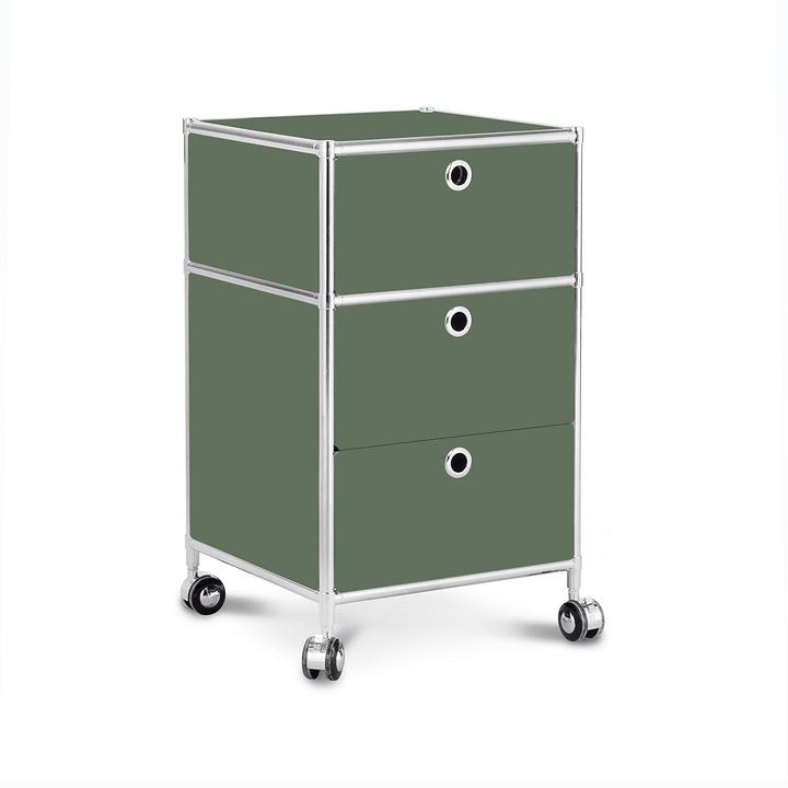 QUADRO Cassettiera 364241700062 Dimensioni L: 40.0 cm x P: 40.0 cm x A: 67.5 cm Colore Verde scuro N. figura 1