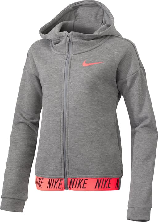 Dry Training Hoodie Veste à capuche pour fille Nike 464536514080 Couleur gris Taille 140 Photo no. 1